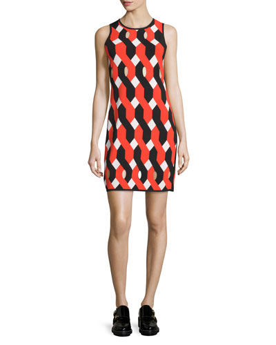 Olympia Printed Mini Dress, Multicolor