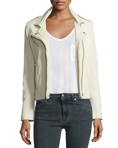 Han Leather Moto Jacket, Vanilla