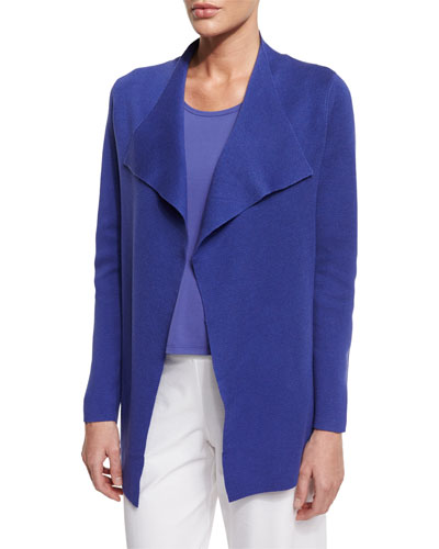 Open Interlock Jacket, Iris