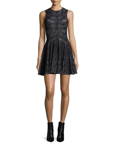 Sleeveless Spine Lace Dress