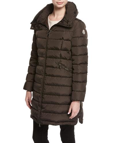 Flammette Puffer Coat w/ Packable Hood