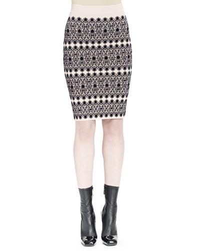Lace Circle Jacquard Skirt