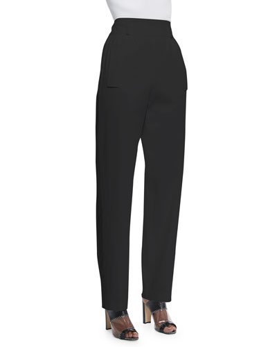 High-Waisted Tuxedo Pants, Black