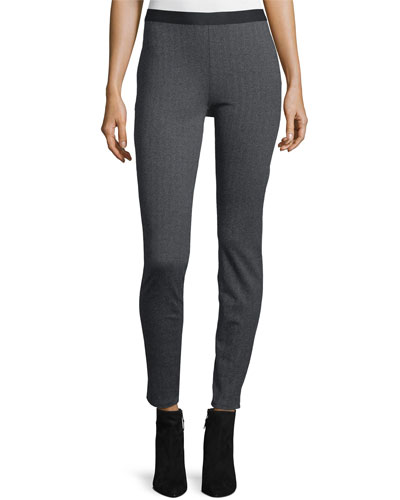 Herringbone Jeggings, Charcoal