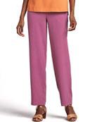 Solid Silk Pants, Petite