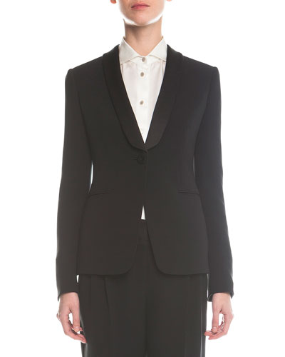 Single-Button Tuxedo Jacket
