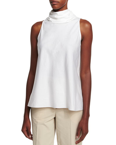 Luna Tie-Back Sleeveless Top, White