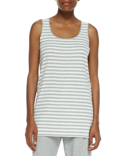 Striped Cotton Tank, Petite
