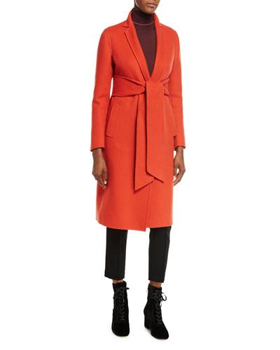 Double Cashmere Wrap Coat