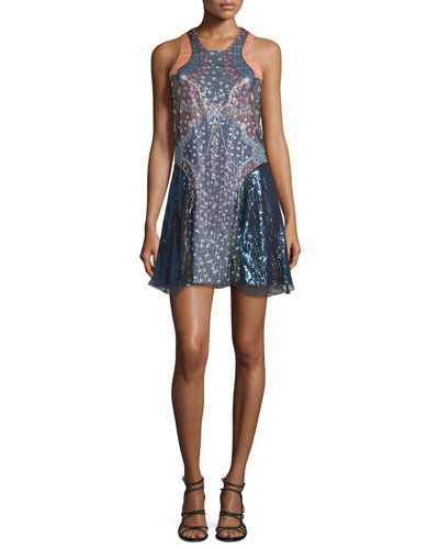 Juno Sequined Chiffon Slip Dress