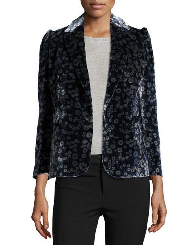 Liane Floral Velvet Blazer