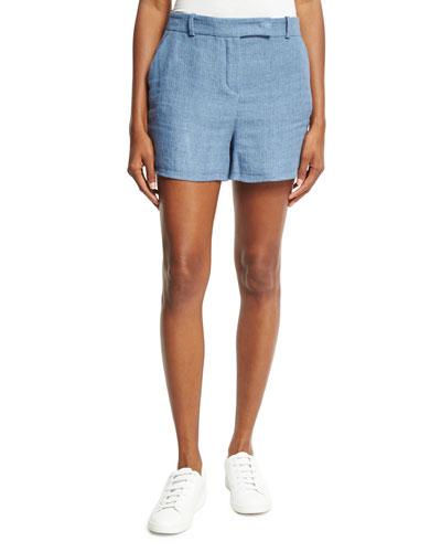 Lonny Linen Shorts, Blue