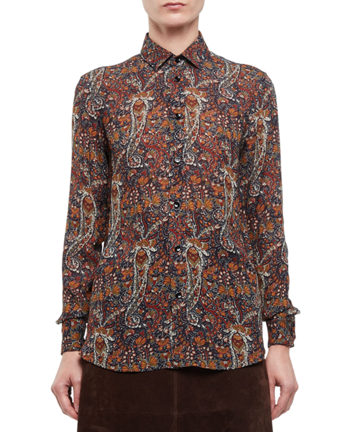 Paisley Classic Long-Sleeve Blouse