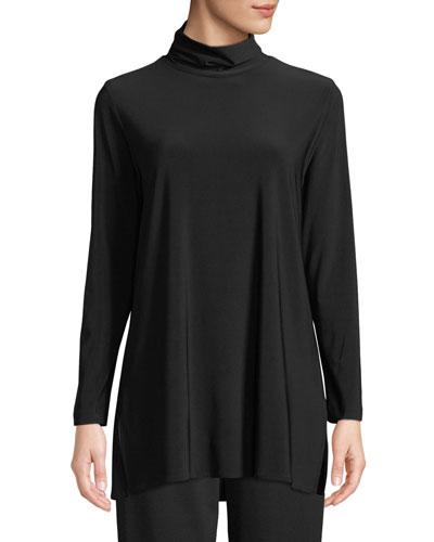 Long-Sleeve Knit Turtleneck, Plus Size