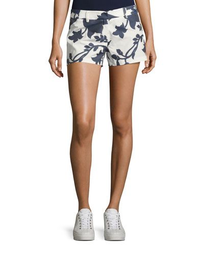 Dickies Floral-Jacquard Shorts, Navy