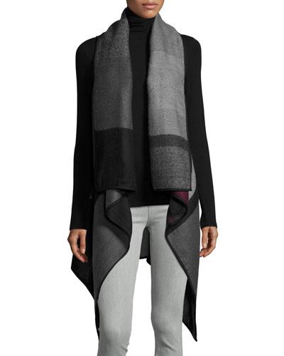 Asymmetric Colorblock Vest, Red