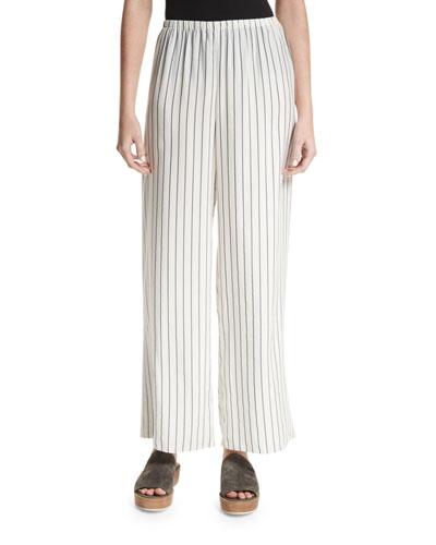 Lala Striped Wide-Leg Pants