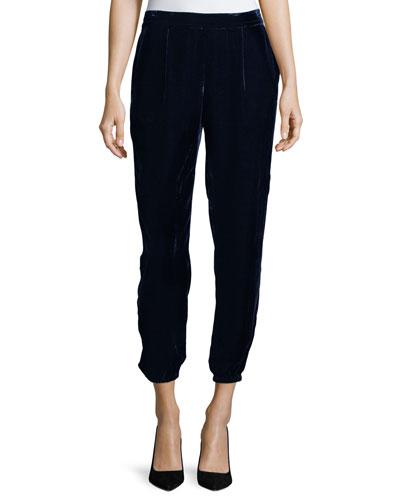 Jaylon Velvet Ankle Pants