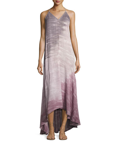 Shanice Tie-Dye Ombre Sleeveless Maxi Dress