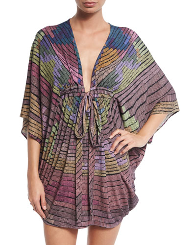 Radial Modal Coverup Poncho
