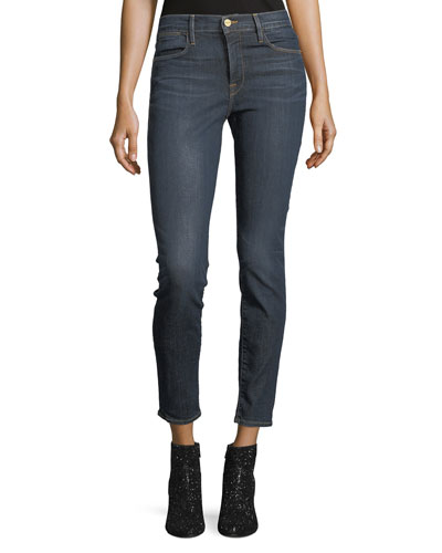 Le High Distressed Skinny Jeans, Harvard