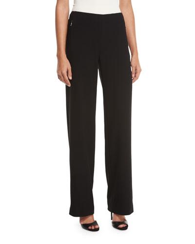 Odette Straight-Leg Pants, Black