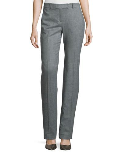 Straight-Leg Wool-Blend Pants, Banker