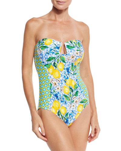 Limoncello Bandeau One-Piece Swimsuit