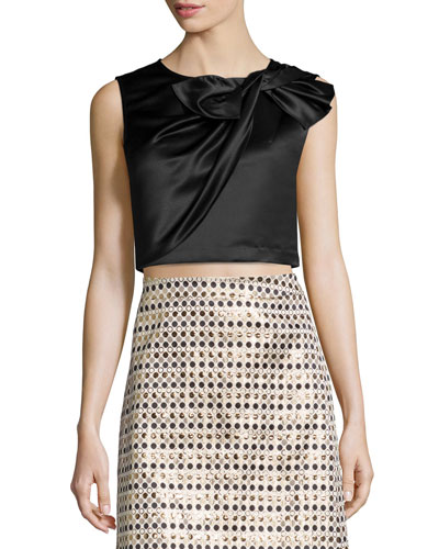 Beau Twisted Bow Crop Top