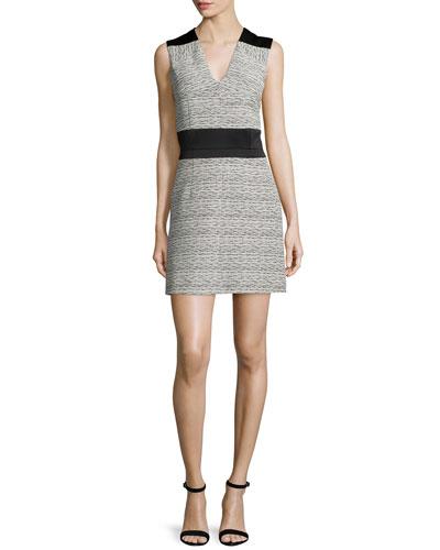 Fantaisie Sleeveless A-Line Dress, Ecru
