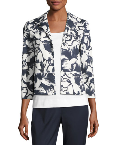 Bellene Floral-Print Zip Jacket