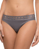 Ajourage Couture Laser-Cut Low-Rise Swim Bottoms