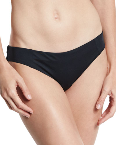 Adriana Solid Hipster Swim Bottom, Black