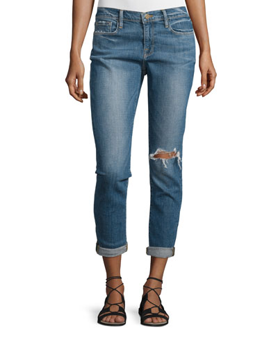 Le Garcon Distressed Cropped Jeans, Cooper