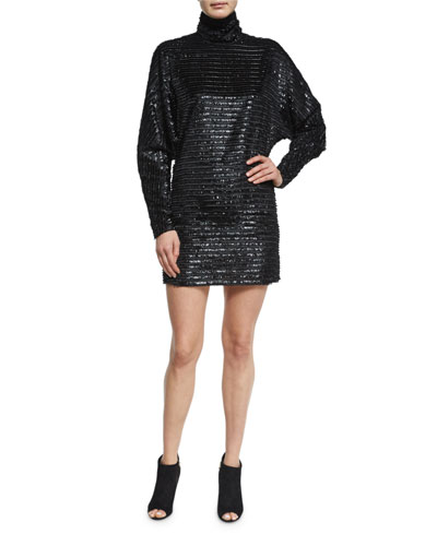 Sequin Turtleneck Dress