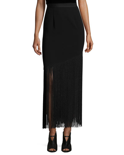 Adams Fringed Midi Skirt