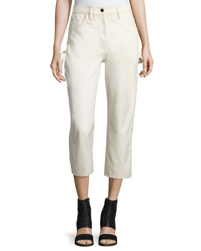 Cotton Painter Pants, White