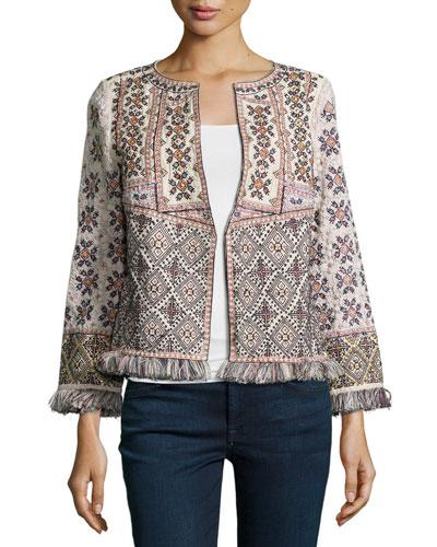 Bernati Embroidered Fringed Jacket
