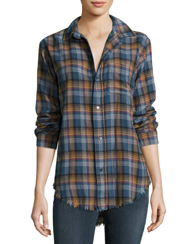 The Prep School Frayed Shirt, Voyager Plaid