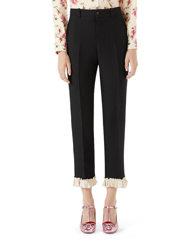 Cady Crepe Wool Suiting Pants