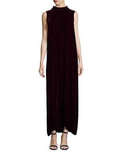 Ellen Sleeveless Mock-Neck Column Dress