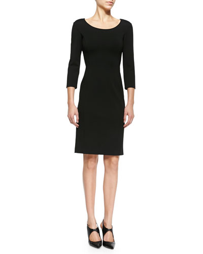 Double-Face Jersey Sheath Dress