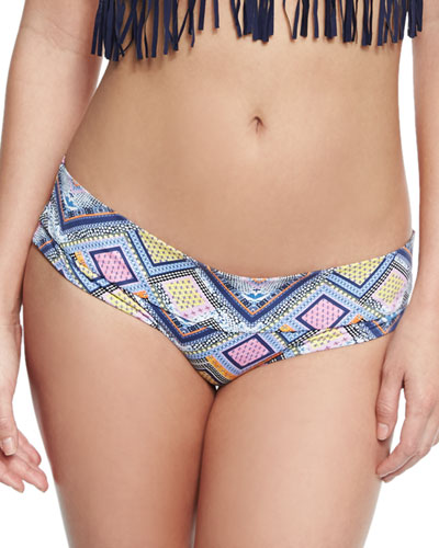 Fressia Geometric-Print Banded Swim Bottom