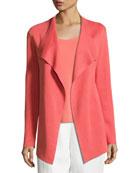 Eileen Fisher Open Interlock Jacket, Silk-Jersey Tank Top