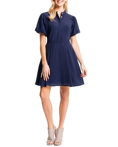 Ellie Shirtdress W/ Puffed Sleeves