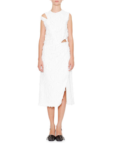 Antartide Sleeveless Cold-Shoulder Dress, Off White
