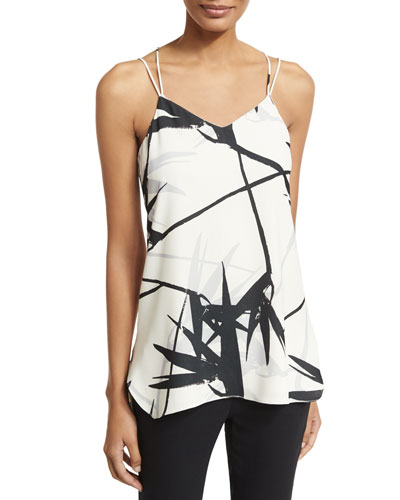 Double-Strap Printed Cami, Multi