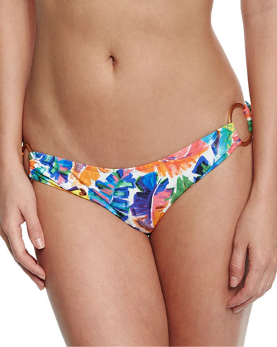 Barbados Banana-Leaf Printed Swim Bottom