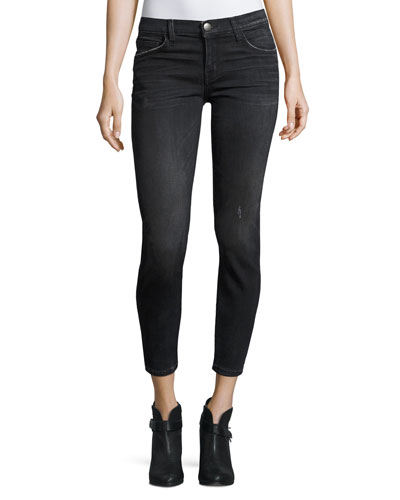 The Stiletto Cropped Skinny Jeans, Black