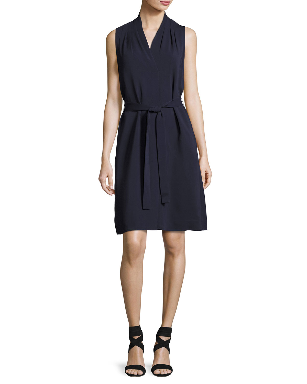 Mazie Sleeveless Dress, Blue